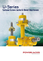 u-series screw jacks for subsea applications